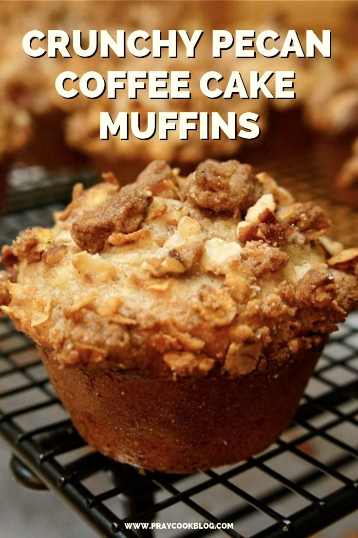 Crunchy Pecan Coffee Cake Muffins