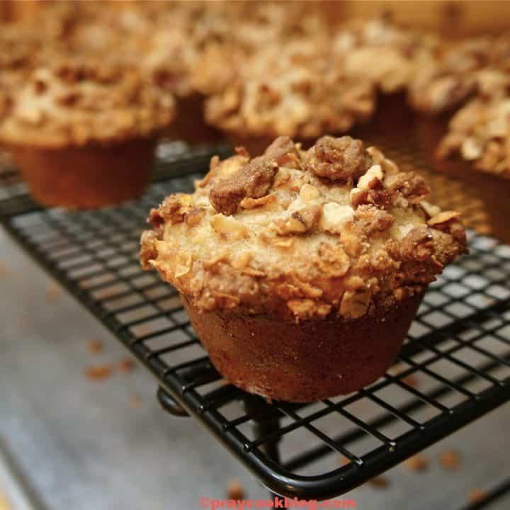 crunchy pecan muffins