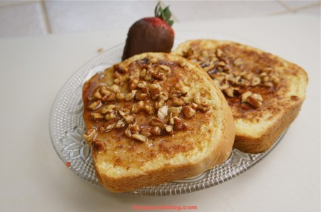 Breakfast In Bed For Mom? Praline French Toast! Yes Ma'am!