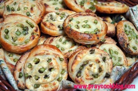 asparagus pins closeup