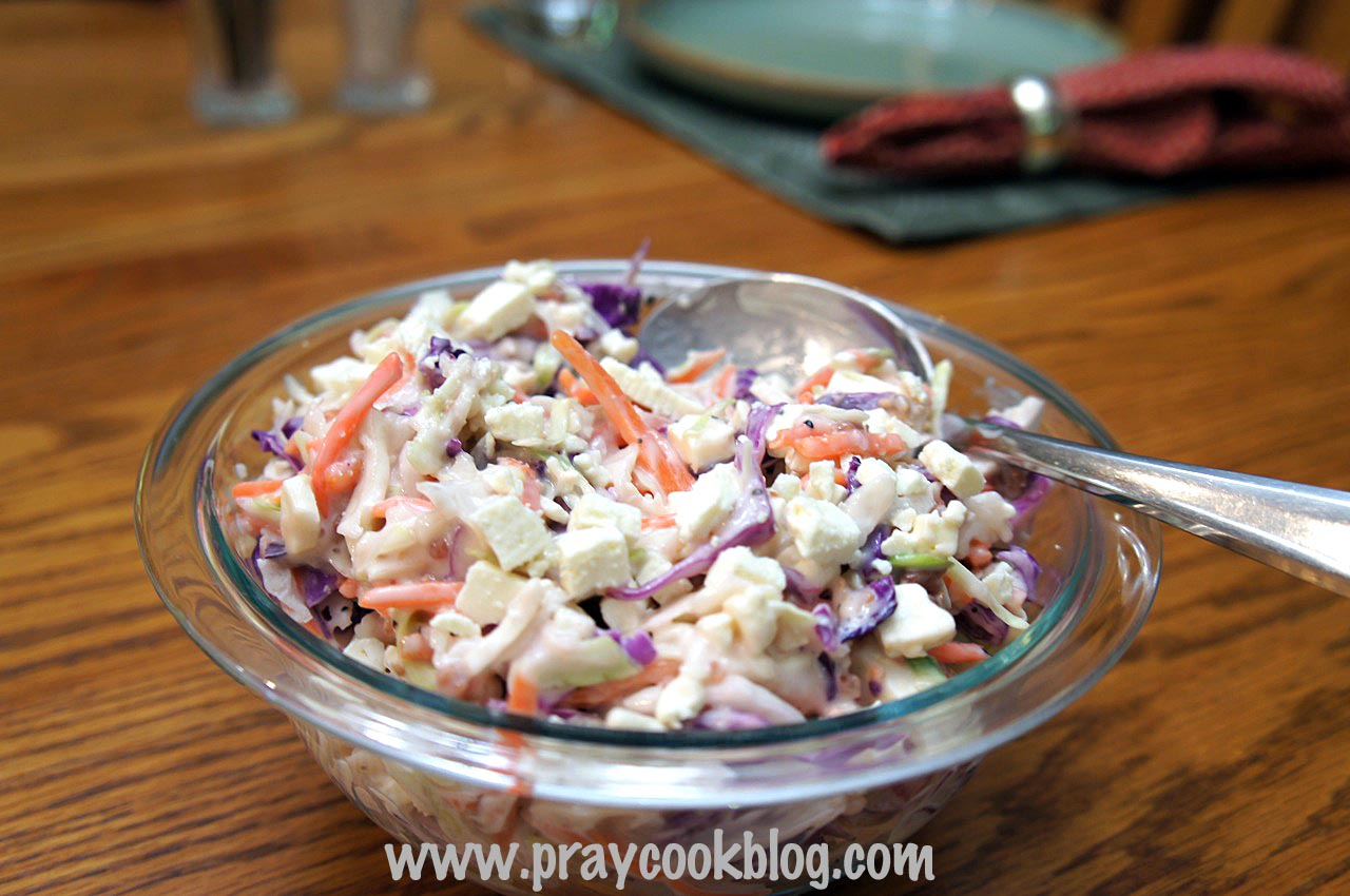 blue cheese bacon slaw