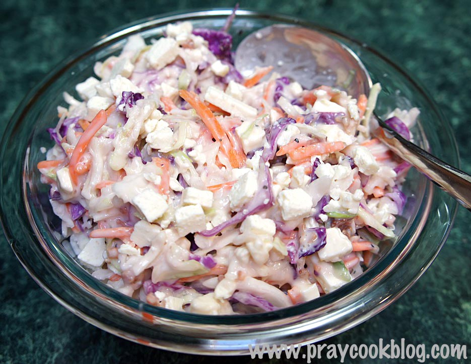 blue cheese slaw done