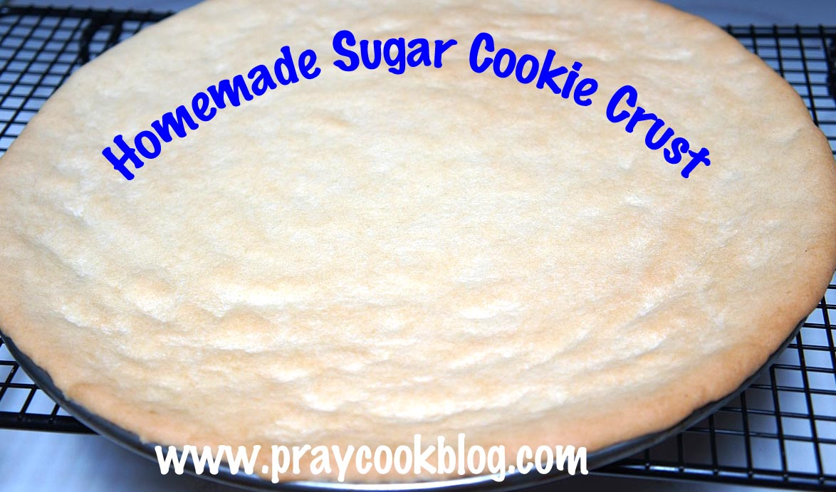 homemade sugar cookie crust