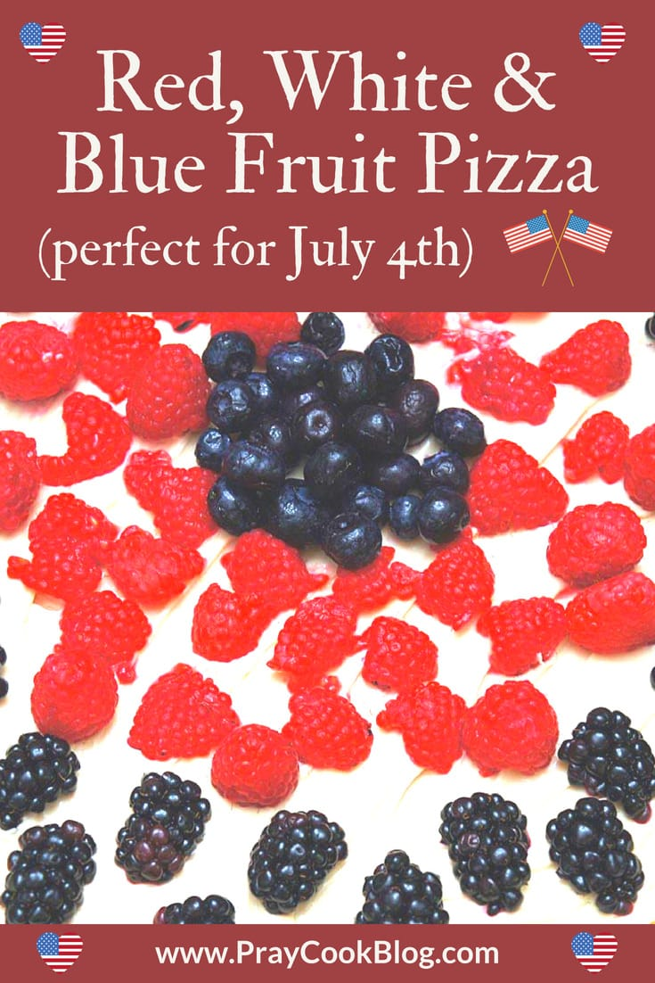 Red, White and Blue Fruit Pizza – Perfect for July 4th