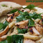 Chicken and Spinach Penne Salad
