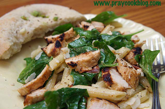 spinach penne chicken 2
