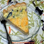 Broccoli Straws and Cheese Quiche