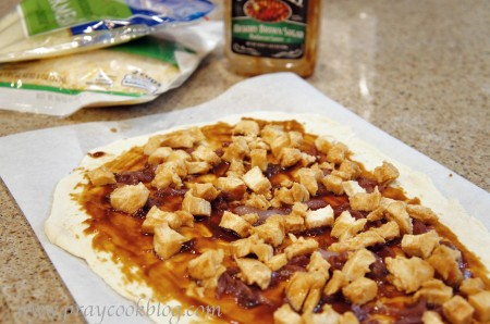 bbq pizza no cheese