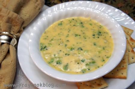 cheesy potato chowder finished