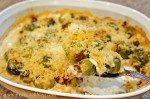 Brussels Sprouts and Bacon Au Gratin