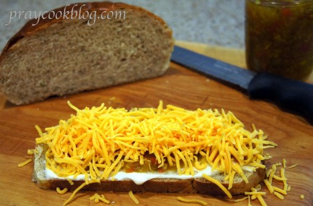 grilled cheese shredded