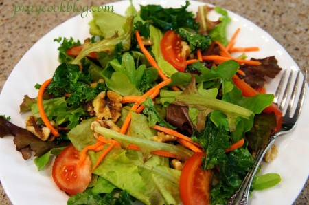 kale and garden salad