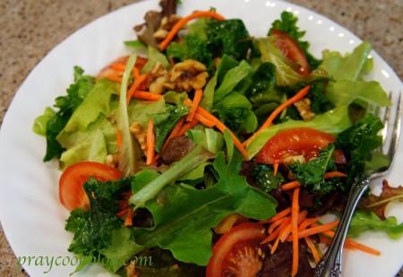 kale garden salad
