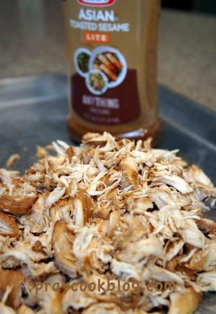 asian shredded chicken