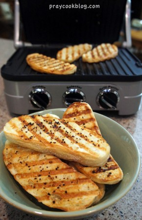panini garlic bread