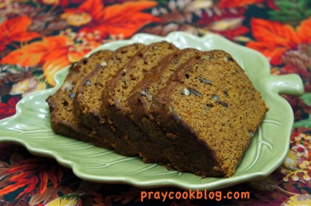 pumpkin bread sliced