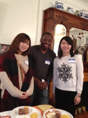 Intern Ghislain with International Students