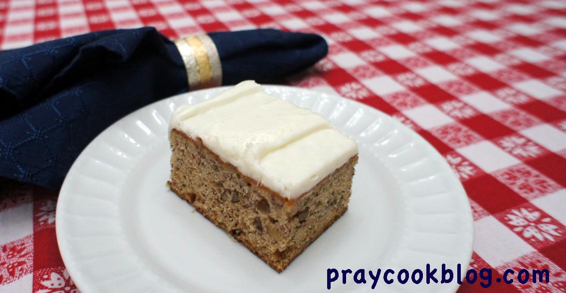 Roasted Banana Bars With Cream Cheese Frosting