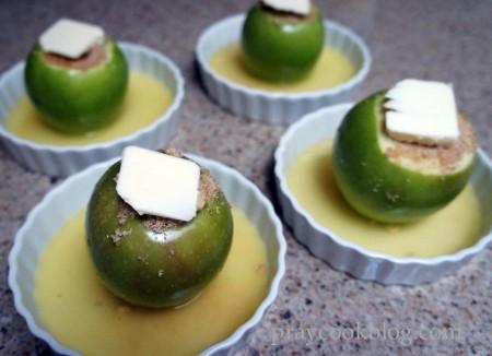 baked apple buttered
