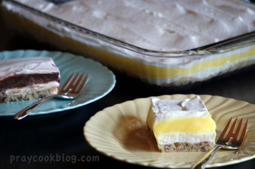 Lemon Dessert Choc Dessert plated