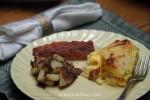 Bacon, Egg & Biscuit Casserole / Breakfast, Brunch or Dinner / John 21:12