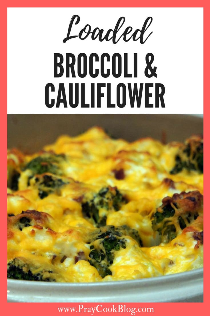 Loaded Broccoli and Cauliflower Cooking