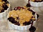 Fresh Blueberry Crumble Tarts
