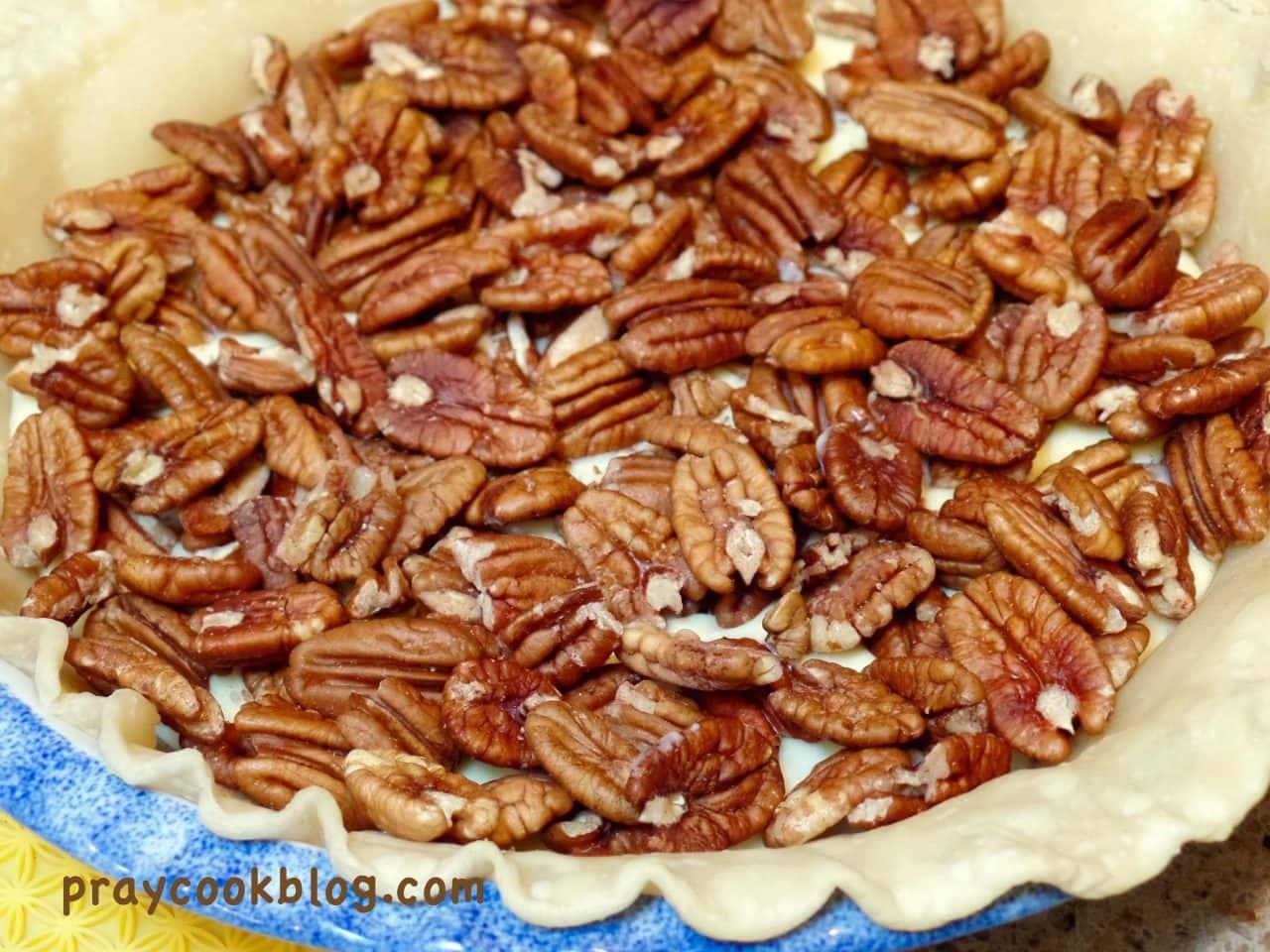Vanilla Cheesecake Pecan Pie