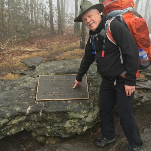 Lee at the Appalachian Trailhead