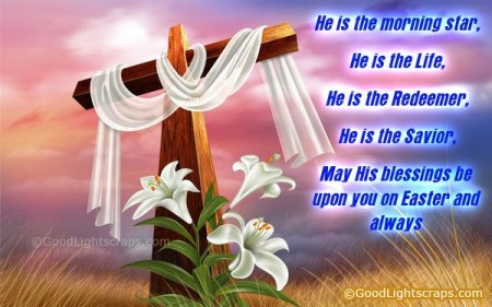 Easter Blessings image Life, Reedeemer, Savior
