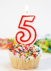 5th-Birthday-Cupcake