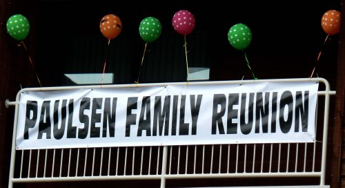 Paulsen Family Reunion Sign