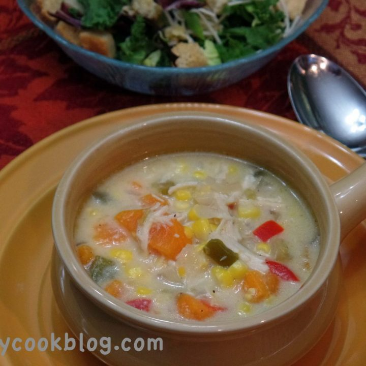 Chicken, Potatoes, and Corn Slow-Cooker Chowder