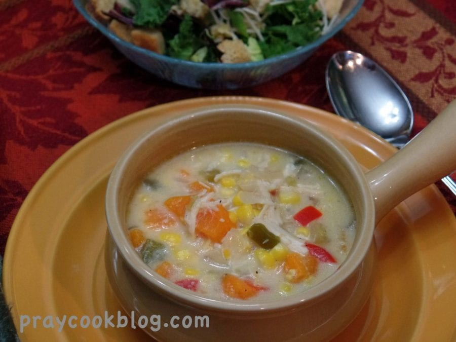 Chicken Sweet Potato Corn Chowder upclose