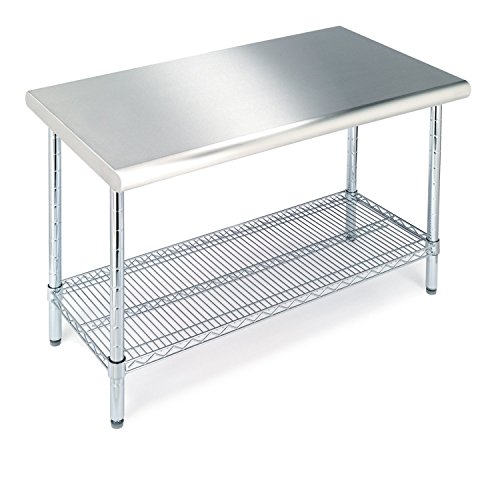 An Nsf Certified Prep And Work Table That Is Sure To Fit Your Needs Not Only Do You Have The Tabletop E But It Also Comes With A Wire Shelf At
