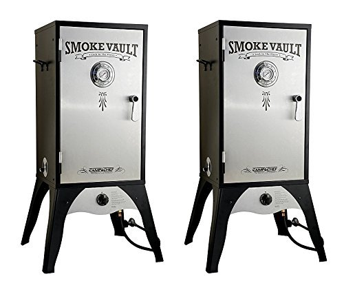 Camp Chef Smoker 18-Inch ​Smoke Vault Large with Stainless Door and Adjustable Shelves (SMV18S)​ (Pack of 2)
