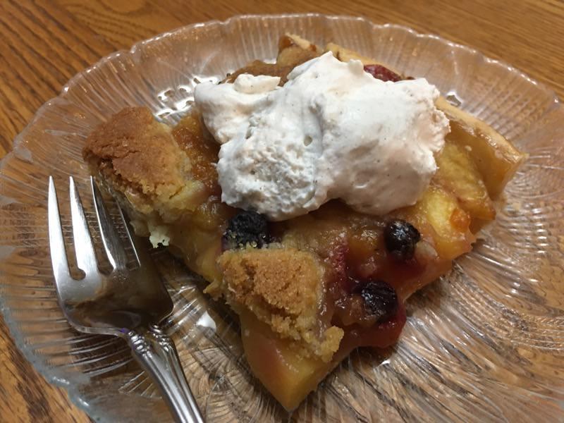 Peach Blueberry Slab Pie Upclose