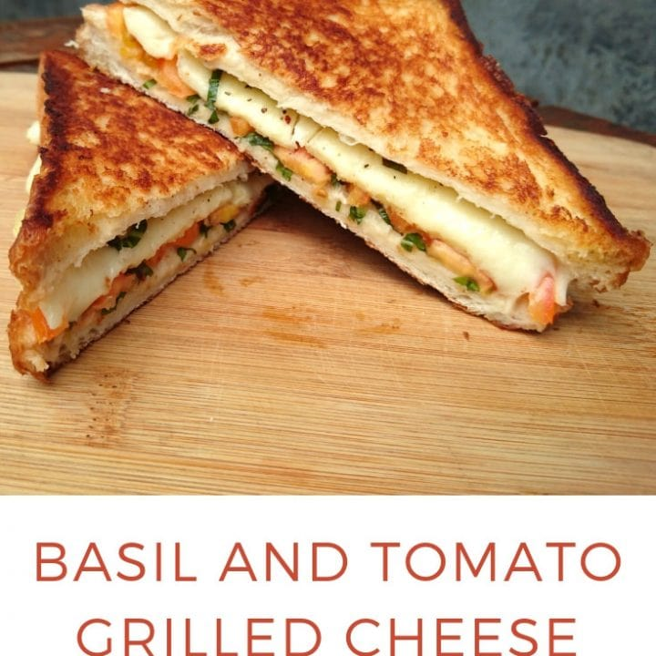 Basil and Tomato Grilled Cheese