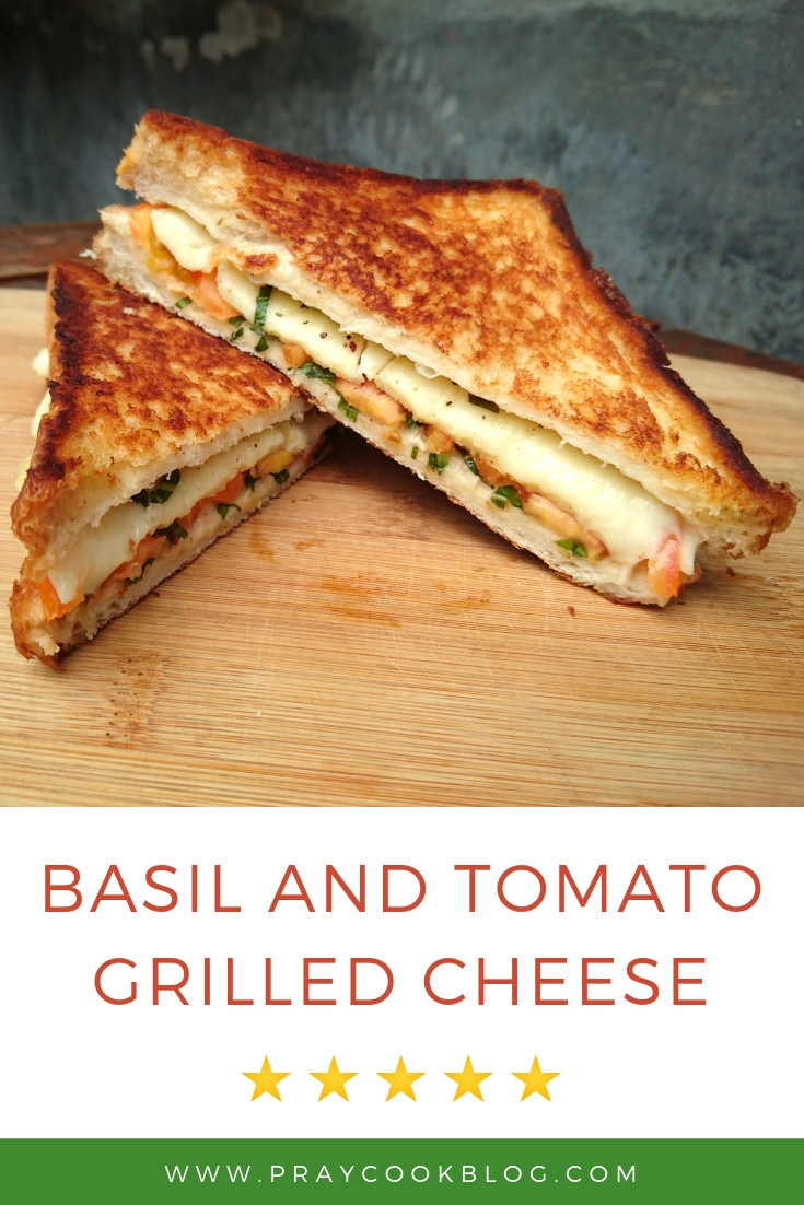 basil and tomato grilled cheese featured