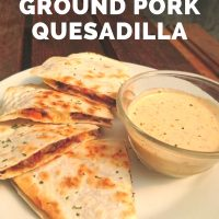 Ground Pork Quesadilla
