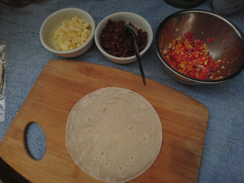 ground pork quesadilla 11