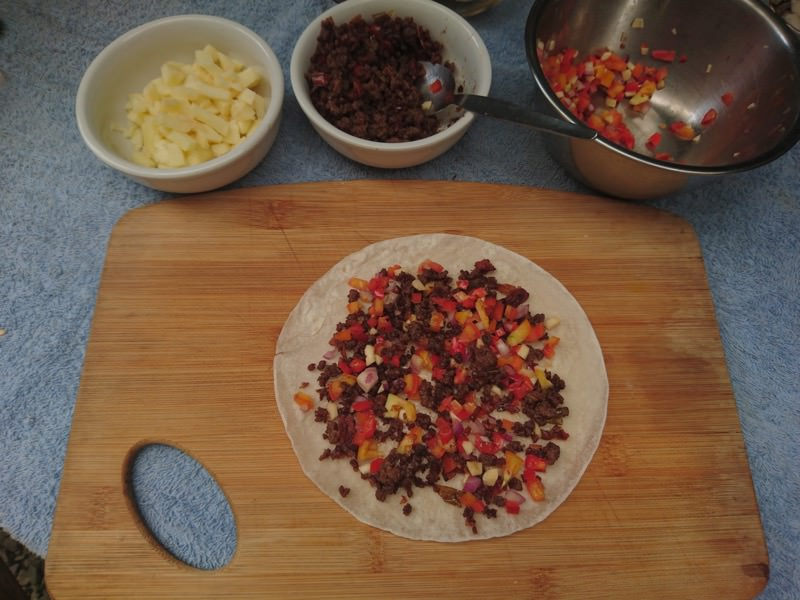 ground pork quesadilla 14