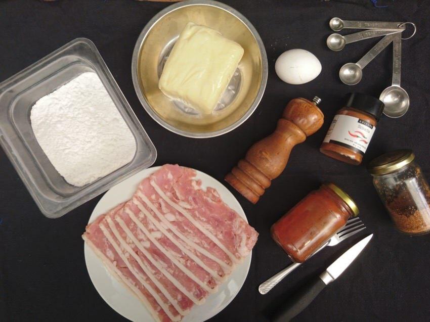 bacon wrapped mozzarella stick ingredients