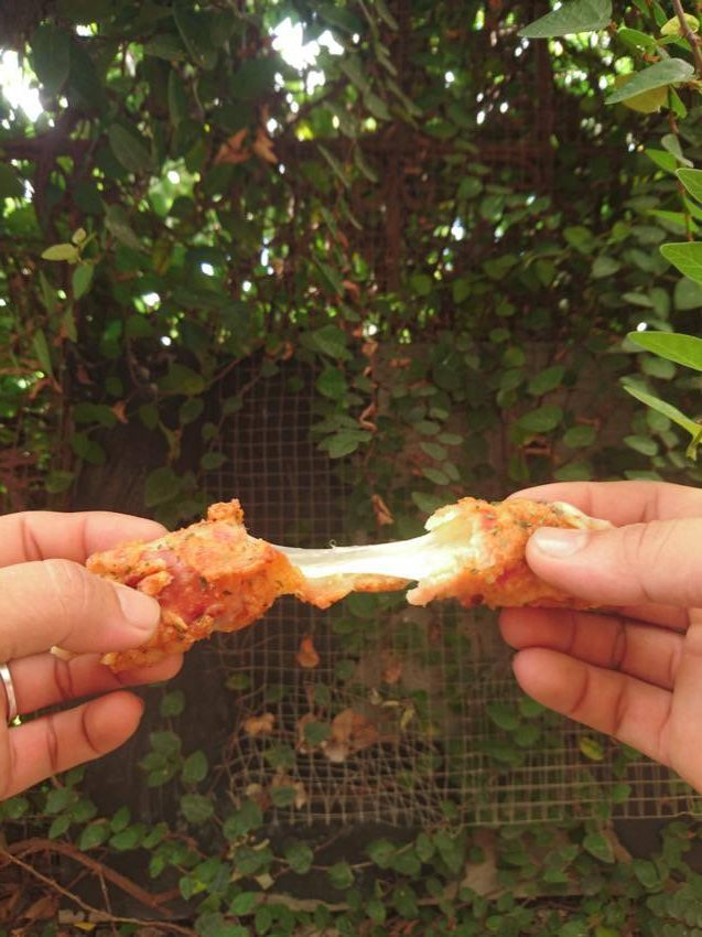 delicious bacon mozzarella stick