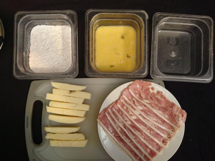 bacon wrapped mozzarella stick order