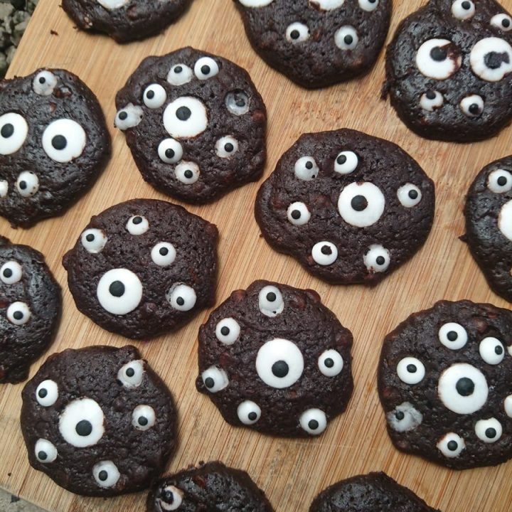 EYE Can See You Chocolate Halloween Cookies