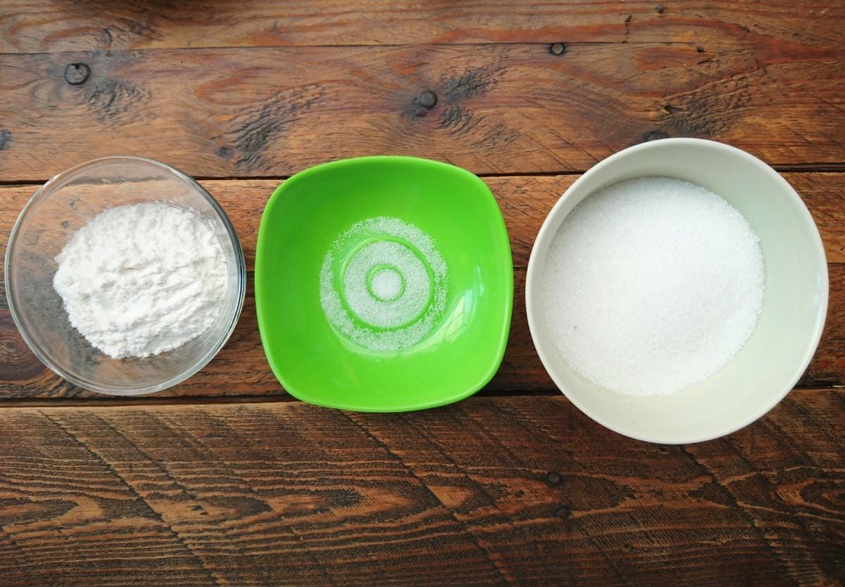 sugar flour and salt